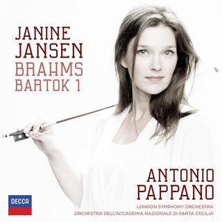 Brahms: Violin Concerto; Bartók: Violin Concerto No.1Janine Jansen, London  Symphony Orchestra, Orchestra dell'Accademia Nazionale di Santa Cecilia, ...