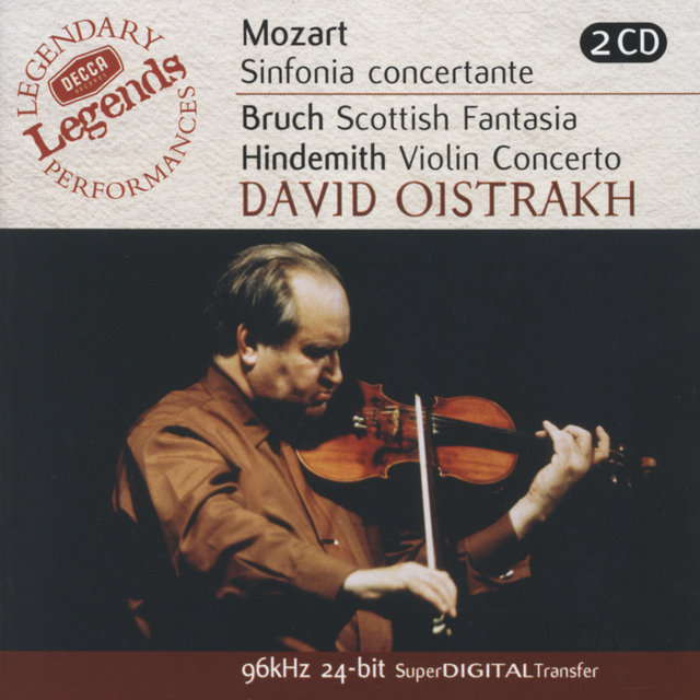 Mozart: Sinfonia Concertante/Bruch: Scottish Fantasia; Hindemith: Violin Concerto (2 CDs)