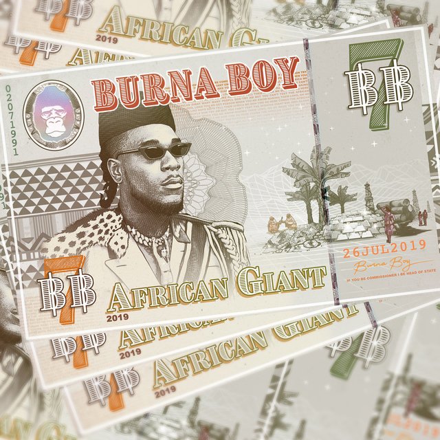 Cover art for album African Giant by Burna Boy