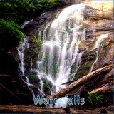 Soothing Brown Waves with Waterfalls