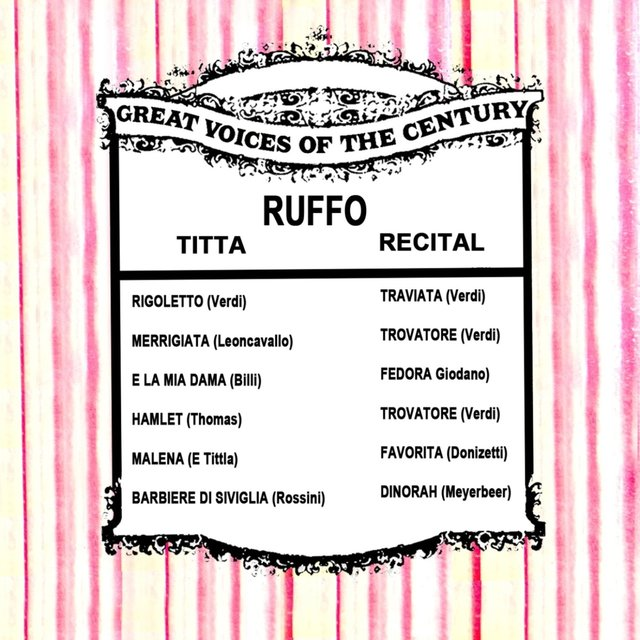 Great Voices of the Century: Titta Ruffo