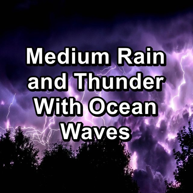 Medium Rain and Thunder With Ocean Waves