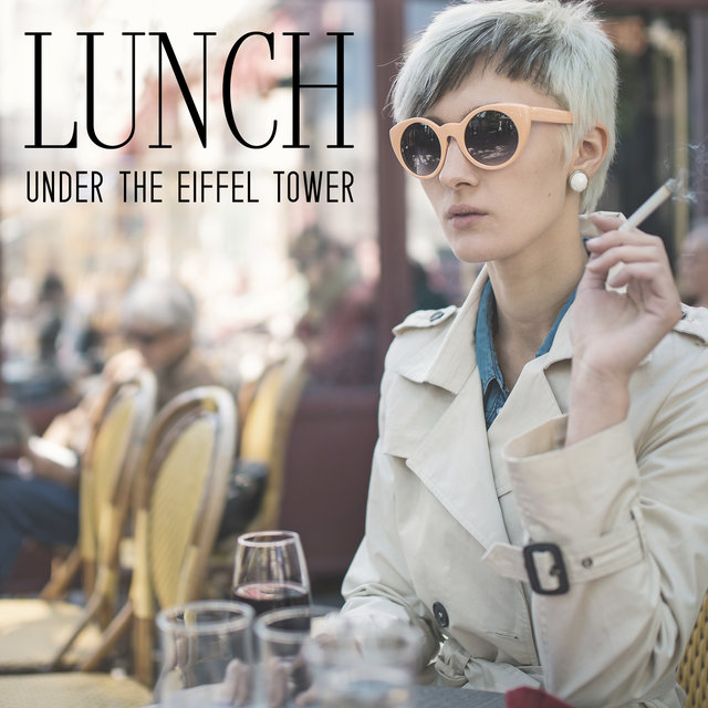 Lunch Under the Eiffel Tower - Mellow Jazz Music with a French Vibe, Meal Time, Dinner for Two, Red Wine, Elegant Vintage Restaurant, Celebration of Delicious Food