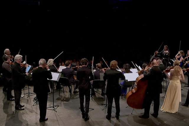 Verbier 25th Anniversary Gala, Strings and Orchestra - Happy Birthday variations (Theme, Variation II (Haydn), Variation IV (Beethoven), Variation VI (Brahms), Variation X (viennese style), Variation XIII (tango), Variation XIV (hungarian style)