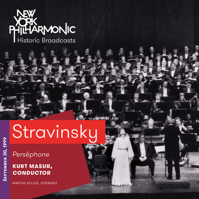 Stravinsky: Perséphone (Recorded 1999)