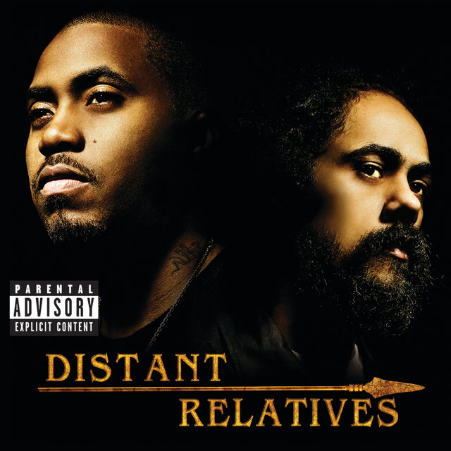 """Cover art for album Distant Relatives by Damian """"Jr. Gong"""" Marley, Nas"""