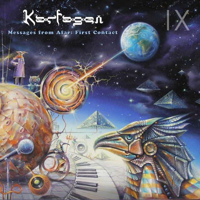 Cover art for album Messages from Afar: First Contact by Karfagen