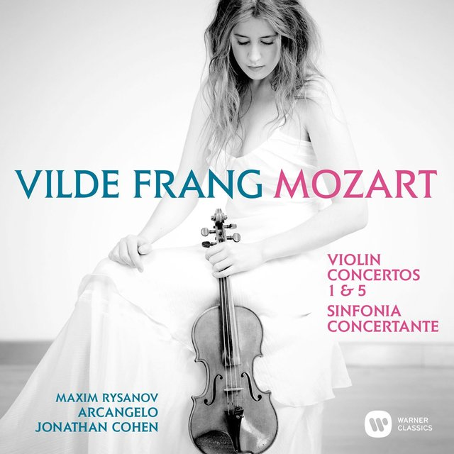 Cover art for album Mozart: Violin Concertos Nos 1, 5 & Sinfonia concertante by Vilde Frang