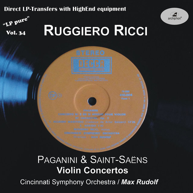 LP Pure, Vol. 34: Ricci Plays Paganini & Saint-Saëns