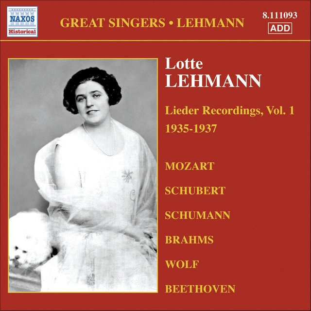 Lehmann, Lotte: Lieder Recordings, Vol. 1 (1935-1937)