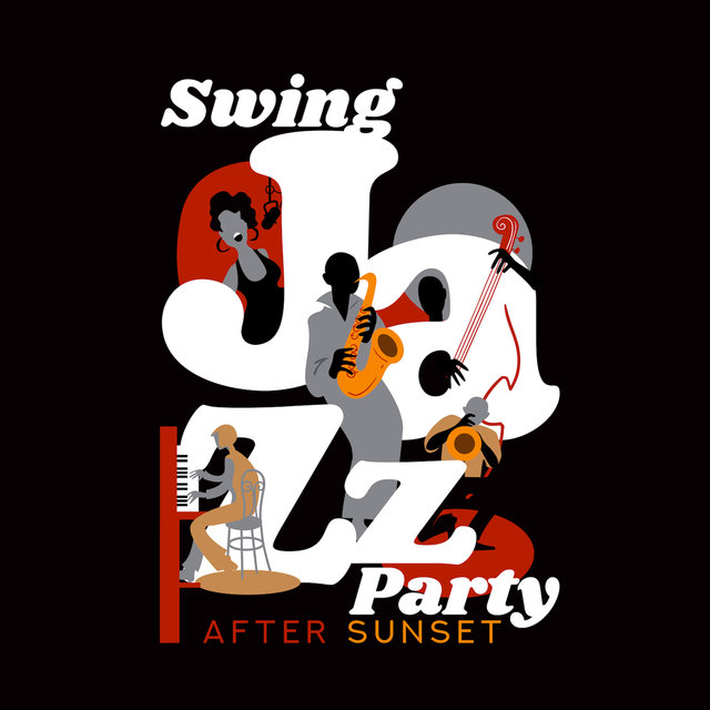 Swing Jazz Party After Sunset: 2019 Fresh Vintage Styled Instrumental Smooth Jazz Music Compilation for Oldschool Swing Dance Party