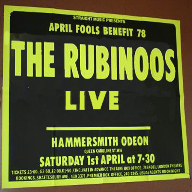 The Rubinoos Live At Hammersmith Odeon