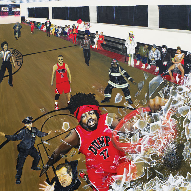 Cover art for album Slam Dunk Contest by Your Old Droog, Tha God Fahim