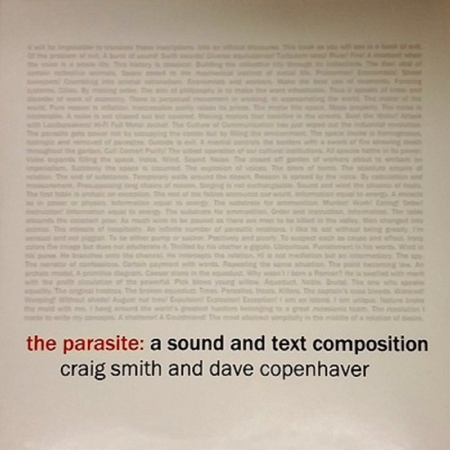 The Parasite: A Sound and Text Composition