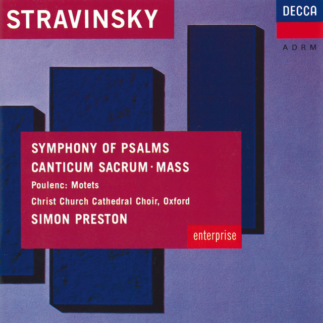 Stravinsky: Symphony of Psalms; Mass / Poulenc: Easter Motets