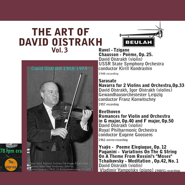 The Art of David Oistrakh, Vol. 3