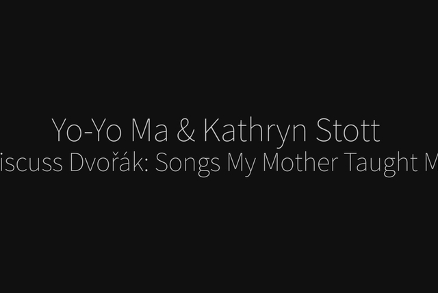 Songs My Mother Taught Me (Dvorák) - Commentary