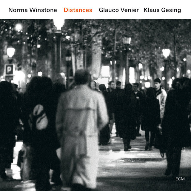 Cover art for album Distances by Norma Winstone, Klaus Gesing, Glauco Venier