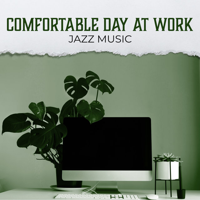 Comfortable Day at Work: Jazz Music, Positive Mood without Stress. Lunch with Coffee, Take a Break in the Office