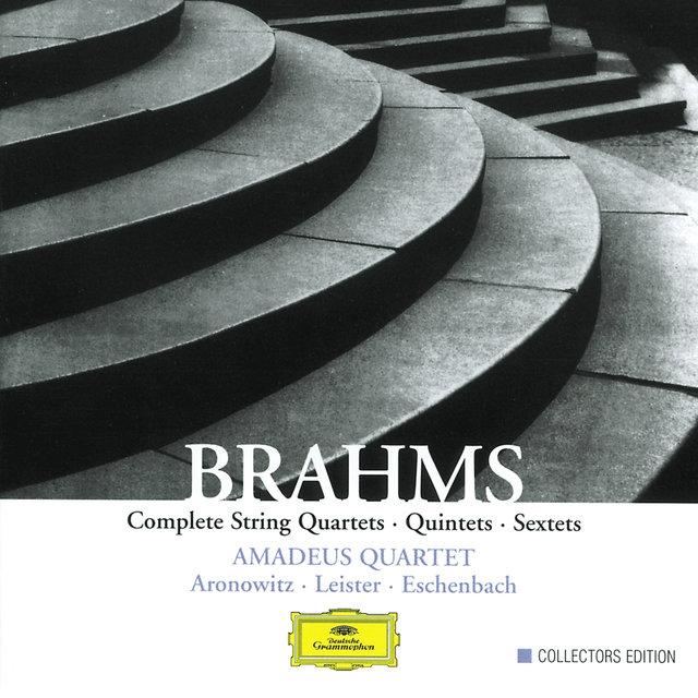Cover art for album Brahms: Complete String Quartets, Quintets & Sextets by Amadeus Quartet, Cecil Aronowitz, Karl Leister, Christoph Eschenbach