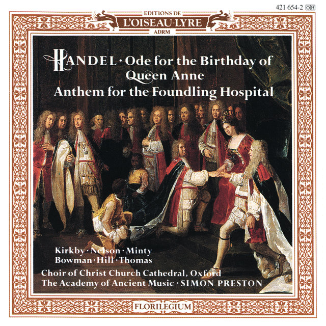 Handel: Queen Anne Birthday Ode; Foundling Hospital Anthem / Haydn: Missa Brevis