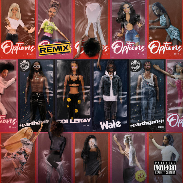 Cover art for album Options (Remix) by EARTHGANG, Coi Leray, Wale