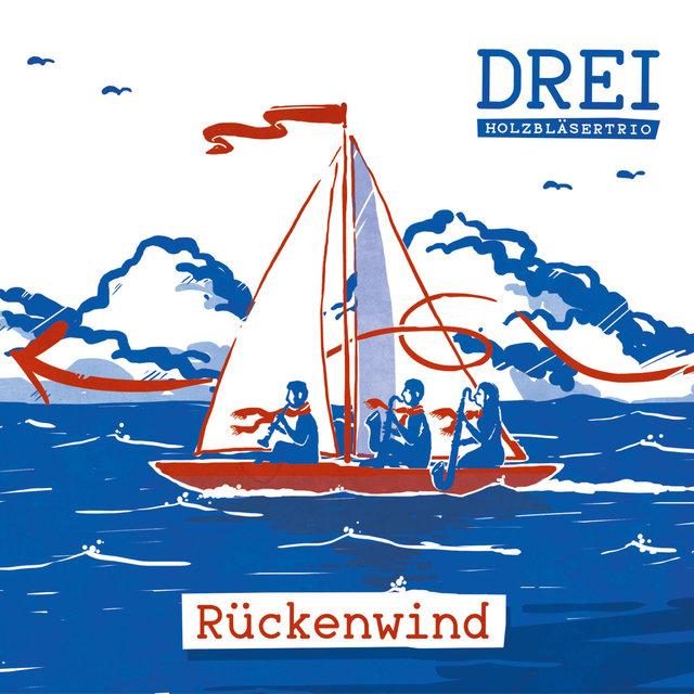 Cover art for album Rückenwind by DREI - Holzbläsertrio