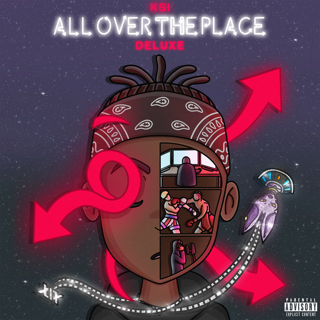 Cover art for album All Over The Place (Deluxe) by KSI
