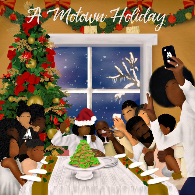 Cover art for album A Motown Holiday by Various Artists