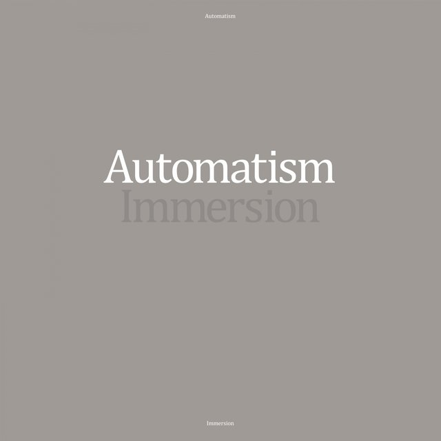 Cover art for album Immersion by Automatism