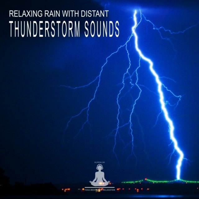 Relaxing Rain with Distant Thunderstorm Sounds