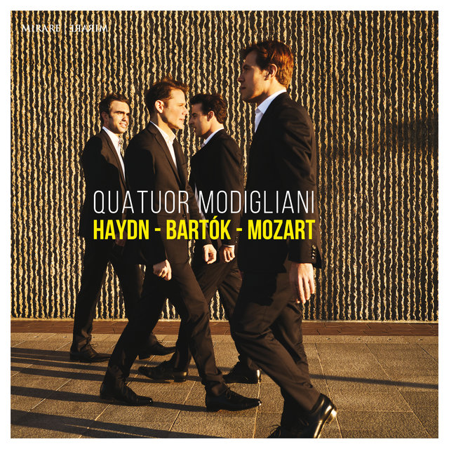 Cover art for album Haydn - Bartók - Mozart by Quatuor Modigliani