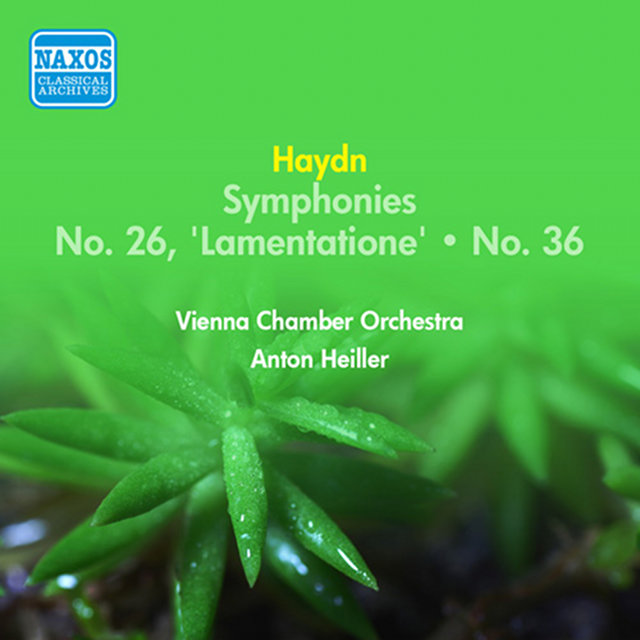 "Haydn, J.: Symphonies Nos. 26, ""Lamentatione"" and 36 (Heiller) (1955)"