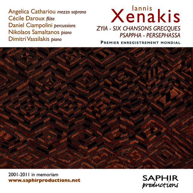 Iannis Xenakis: Zyia - Six chansons grecques - Psappha - Persephassa
