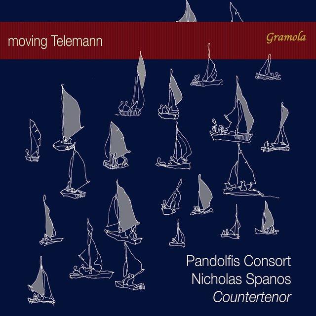 Cover art for album Moving Telemann by Nicholas Spanos