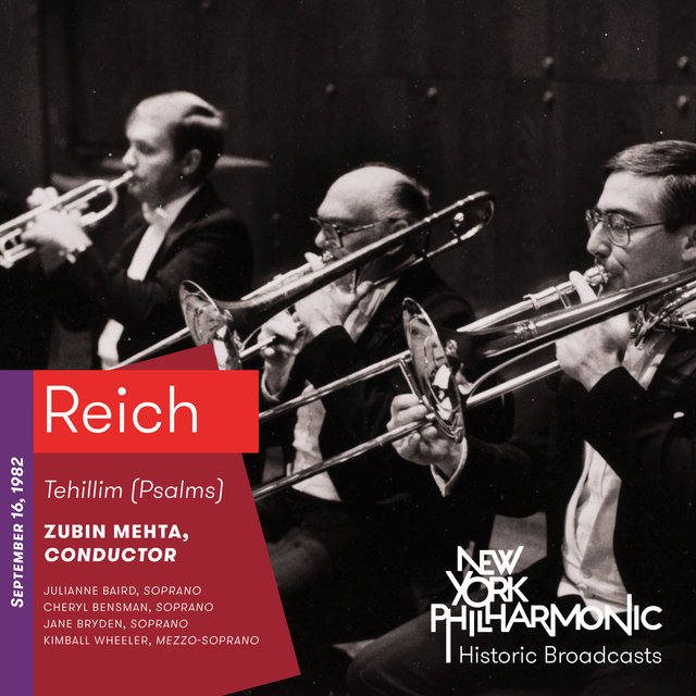 Reich: Tehillim (Psalms) (Recorded 1982)