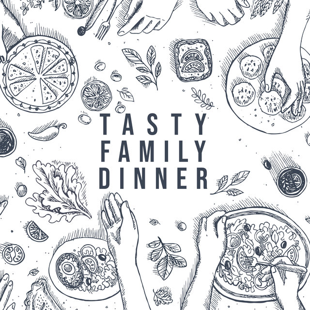 Tasty Family Dinner - Smooth Jazz for Relaxation, Dinner Songs,  Ambient Instrumental Jazz, Cafe Music, Restaurant Set