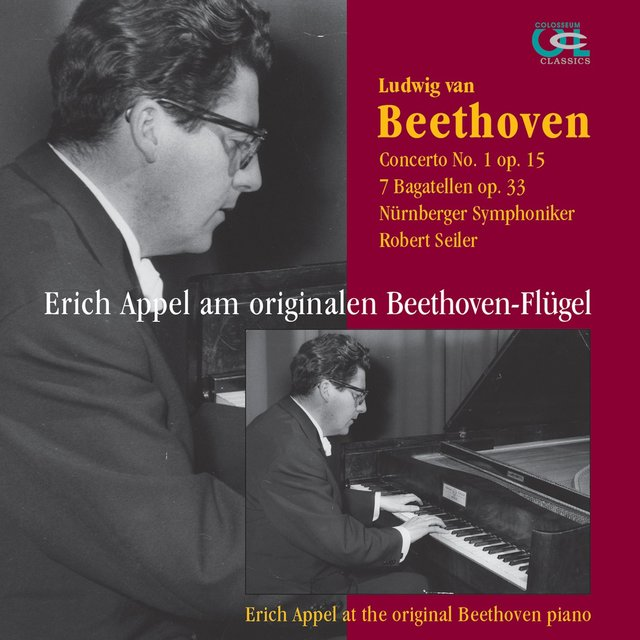 Erich Appel am originalen Beethoven-Flügel