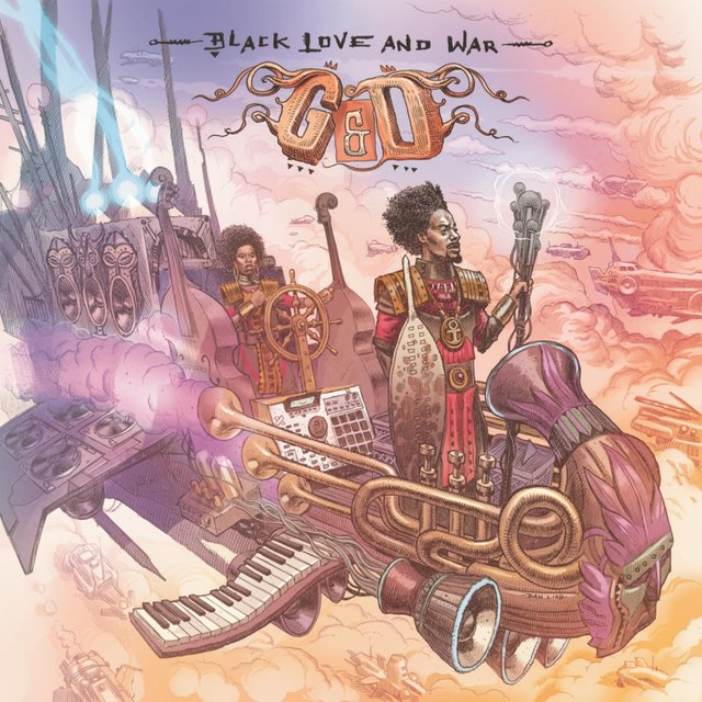 Cover art for album Black Love & War by G&D, Georgia Anne Muldrow & Declaime