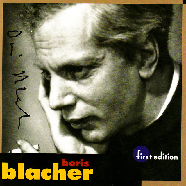 Boris Blacher: Orchestral Variations on a Theme by Paganini, Orchestral Ornament Op. 44, Studie im Pianissimo Op. 45 & Orchester Fantasie