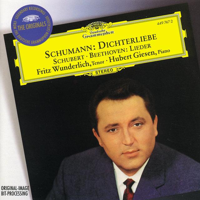 Cover art for album Schumann: Dichterliebe / Beethoven & Schubert: Lieder by Fritz Wunderlich, Hubert Giesen