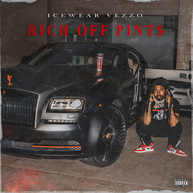 Cover art for album Rich Off Pints by Icewear Vezzo