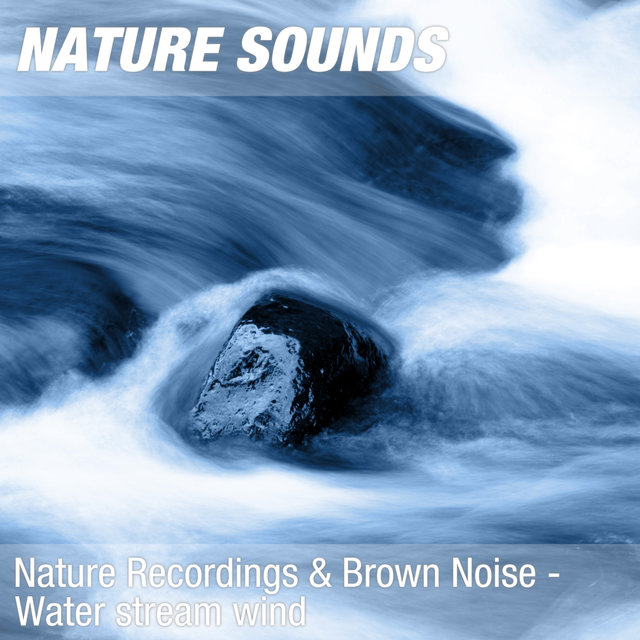 Nature Recordings & Brown Noise - Water stream wind