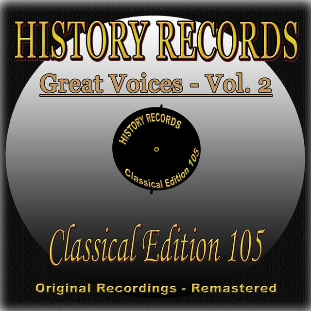 History Records - Classical Edition 105 - Great Voices - Vol. 2
