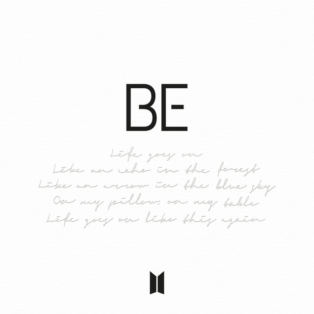 Cover art for album BE by BTS
