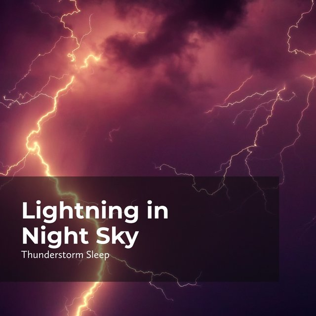 Lightning in Night Sky