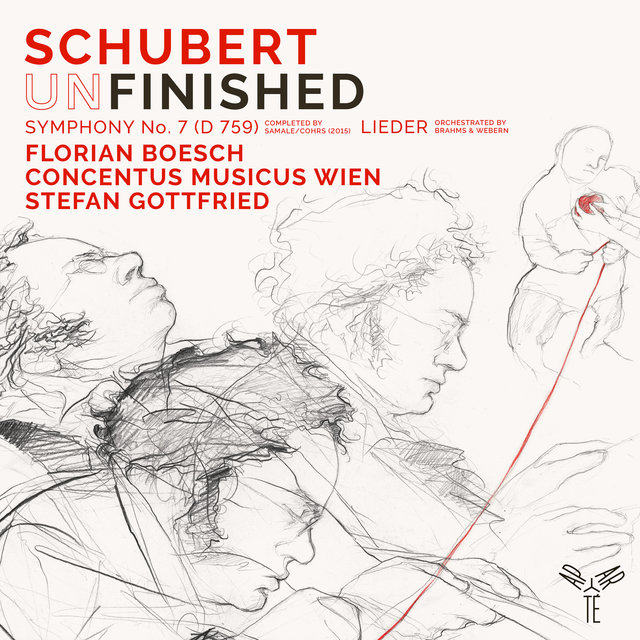 "Schubert: Symphony No. 7 in B-Flat Major, D. 759 ""Unfinished"", Lieder (Orchestrated by Webern, Brahms)"