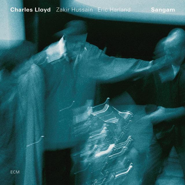 Cover art for album Sangam by Charles Lloyd, Zakir Hussain, Eric Harland