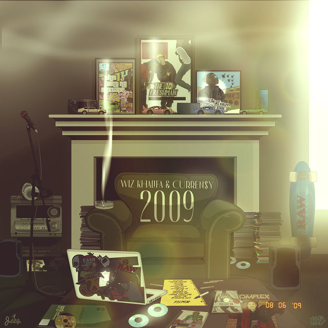 Cover art for album 2009 by Wiz Khalifa, Curren$y
