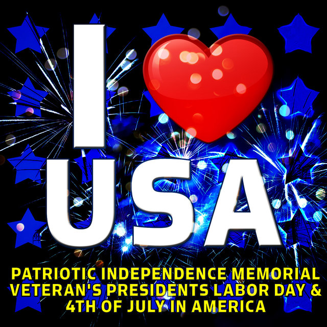 I Love USA - Patriotic Independence Memorial Veteran's Presidents Labor Day & 4th of July in America